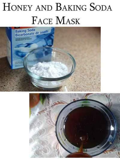 honey and baking soda face mask