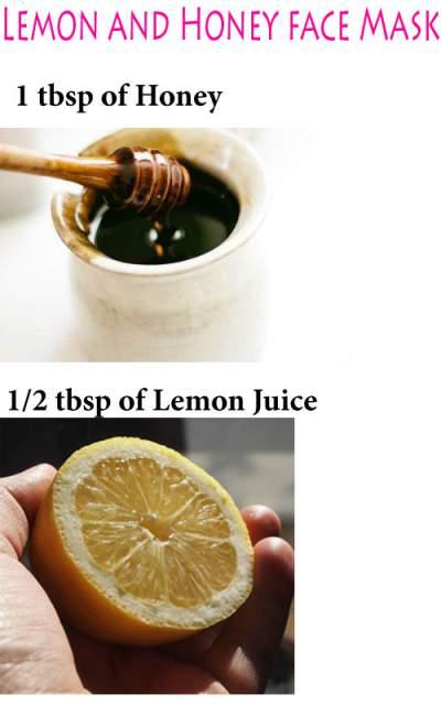lemon and honey for skin whitening