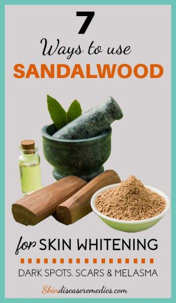 sandalwood for skin whitening